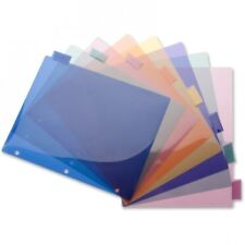 "Business Source Poly Insert Index Dividers 8-1/2""x11"", 8-Tab, Multi Color"