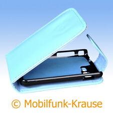Flip Case Etui Handytasche Tasche Hülle f. Samsung Star 3 (Türkis)