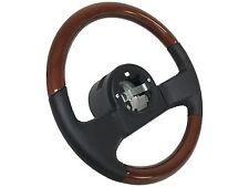 1984 -1989 C4 Corvette Steering Wheel NEW 1/2 Mahogany Wood & Leather
