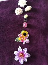 Set Of Six Floral Hair Clips Rose Sunflower Hair Accessories Clasp H&M Topshop