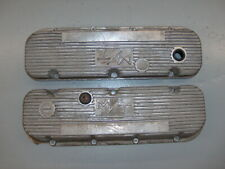 Holley M/T Mickey Thompson BBC Aluminum Finned Valve Covers Chevy 427 454 w/Chip