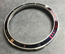 60M BLU/BLK+RED MATTE BEZEL for Vostok Amphibian Komandirskie Watch 3860BRMT