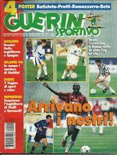 GUERIN SPORTIVO=N.29 1996= POSTER PRESENTE=ROBERTO BAGGIO=LIPPI=MONTERO=