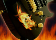 Real Fire Flame Skull Inlay Sticker Decal For Guitar & Bass Body
