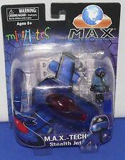 Minimates Vehicle S2 Mobile Action Xtreme M.A.X. Stealth Jet w/ Plot Figure MINT