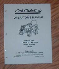 CUB CADET 7360 SS  OPERATORS MAINTENANCE MANUAL