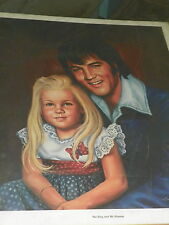 ELVIS PRESLEY AND LISA  PRINT 20 x 24 inches 1978 RARE