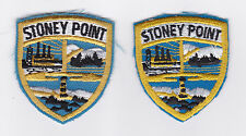 SCOUTS OF CANADA -  CANADIAN SCOUT QUEBEC STONEY POINT DISTRICT Patch (2 VAR)
