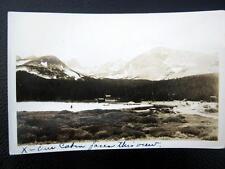 WARD Colorado ~ 1930's CABINS ~ LAKE ~ HIGHWAY ~ OLD AUTOS ~ CANOE ~ RPPC