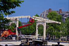 792019 Magere Brug Lifting Bridge Amstel Canal Amsterdam A4 Photo Print