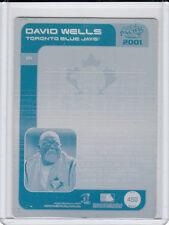 David Wells 1/1 Printing Press Plate 2001 Blue Jays New York NY Yankees 1 of 1