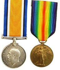 WW1 BRITISH WAR & VICTORY MEDAL PAIR 183746.GNR.T.HEARN.R.A