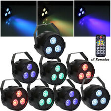 8pcs RGBP 3LED Par Light DMX512 Stage Light Disco Party Club DJ Wedding Lighting