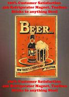 Beer VS Girl Pin up BECK/'S Cave DECOR SIGN 4x6 Fridge Magnet Tool Box BAR GARAGE