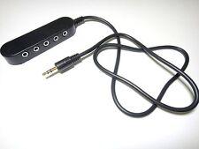 3.5mm 1 Male To 5 Female Stereo Audio Splitter Hub For Headphone,Speakers