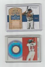 Topps Andruw Jones Game Used Bat Card lot 2004