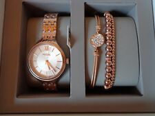 FOSSIL ROSEGOLD LADIES WRIST WATCH WITH BRACELET~NWT