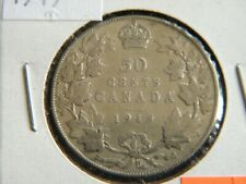 1919 Canada Sterling Silver 50 Cent Piece-11.66 Grams Sterling Silver--19-532
