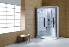 Luxury 2-Person Steam Shower Enclosure w/Sliding Glass Door-7 Year Warranty!