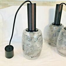 70er Jahre Pendelleuchte Lampe Hängelampe schweres Glas 1 von 3