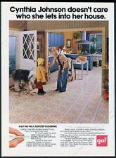 1974 Old English Sheepdog photo Gaf flooring vintage print ad