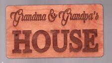 "NEW - Wooden sign - Grandma & Grandpa's House -  3"" x 5½"" - superfleas"