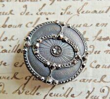 Grand bouton ancien en métal avec strass collection 1900 French button
