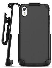 iPhone XR Belt Clip Holster Case / Cover | Thin Grip Protective Case Nova Black