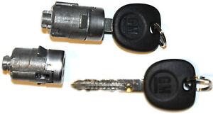 NEW GM OEM 2 (PAIR) DOOR LOCKS CYLINDER LOCKSET + 2 OEM GM LOGO KEYS TO MATCH