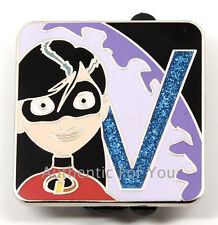 New 2016 Disney Pin Pixar Alphabet Letter V Violet The Incredibles Chaser Le 400