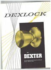 Dexlock Ad Sheet Doorknobs Locks Dexter 1970s