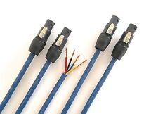 2m Lautsprecher Boxen Kabel Speakon kompatibel 4adr 2 Stück jew. 2m 4x2,5qmm