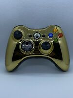Microsoft Xbox 360 Special Edition Gold Chrome Series Wireless Working SEE Pics
