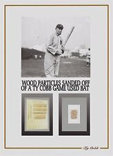 TY COBB personal game used baseball bat shavings, relic