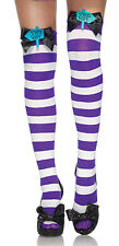 Mad Hatter Thigh Highs Striped Thigh Highs Halloween Stockings 6622 Leg Avenue