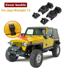 2x Left & Right Hood Lock Latch Catch Cover for Jeep Wrangler TJ 1997-2006 Metal
