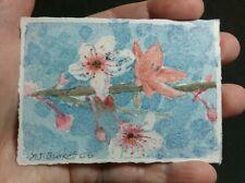 "New ListingAceo Mini Original 2.5"" x 3.5"" Watercolor Painting Flower Blossoms by Yjburkett"