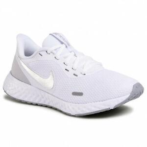 Scarpe da Ginnastica Nike Revolution Donna Sport Running Bianco Silver Argento