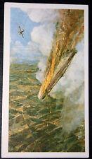 First World War   Royal Naval Air Service  Zeppelin Kill  Colour Card # CAT F