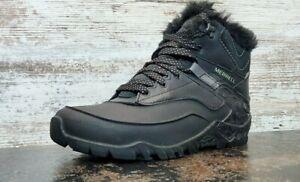 Merrell Aurora 6 Ice + Winter Boots Sz 7 37.5 Used J37216 Insulated Waterproof