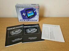 Nintendo Gameboy Advance Purple Box + Manuals