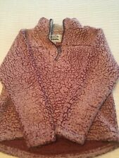 Girls youth fleece pullover with half zipper size 10/12 brand Cuddly Sherpa