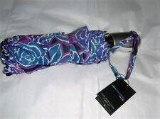 ShedRain Floral Print Silo Purple Auto Open And Close Umbrella   NWT