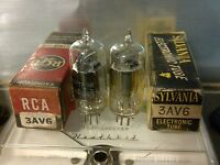 (2) NOS Vintage 3AV6 Vacuum Tube
