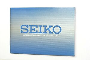 UNUSED UNDATED 2 YEAR EUROPEAN GUARANTEE & INSTRUCTIONS BOOKLET FOR SEIKO WATCH
