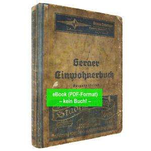 eBook: Adressbuch Gera (Stadt u. Vororte), Ld. Thüringen, 1941/42  AB448