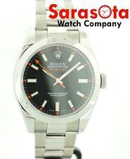 MINT Rolex Milgauss 116400 40mm Black Dial Oyster Steel Wrist Watch 2009 w/Box