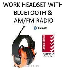 Work Ear Muffs BLUETOOTH CONNECTIVITY & AM/FM Radio Hearing Protection Safety