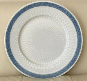 "Royal Copenhagen Blue Fan Round Platter Chop Plate 14 3/8"""
