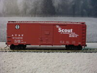 HO Scale ATSF Super Chief #274826 40' PS-1 Box Car Knuckle Couplers